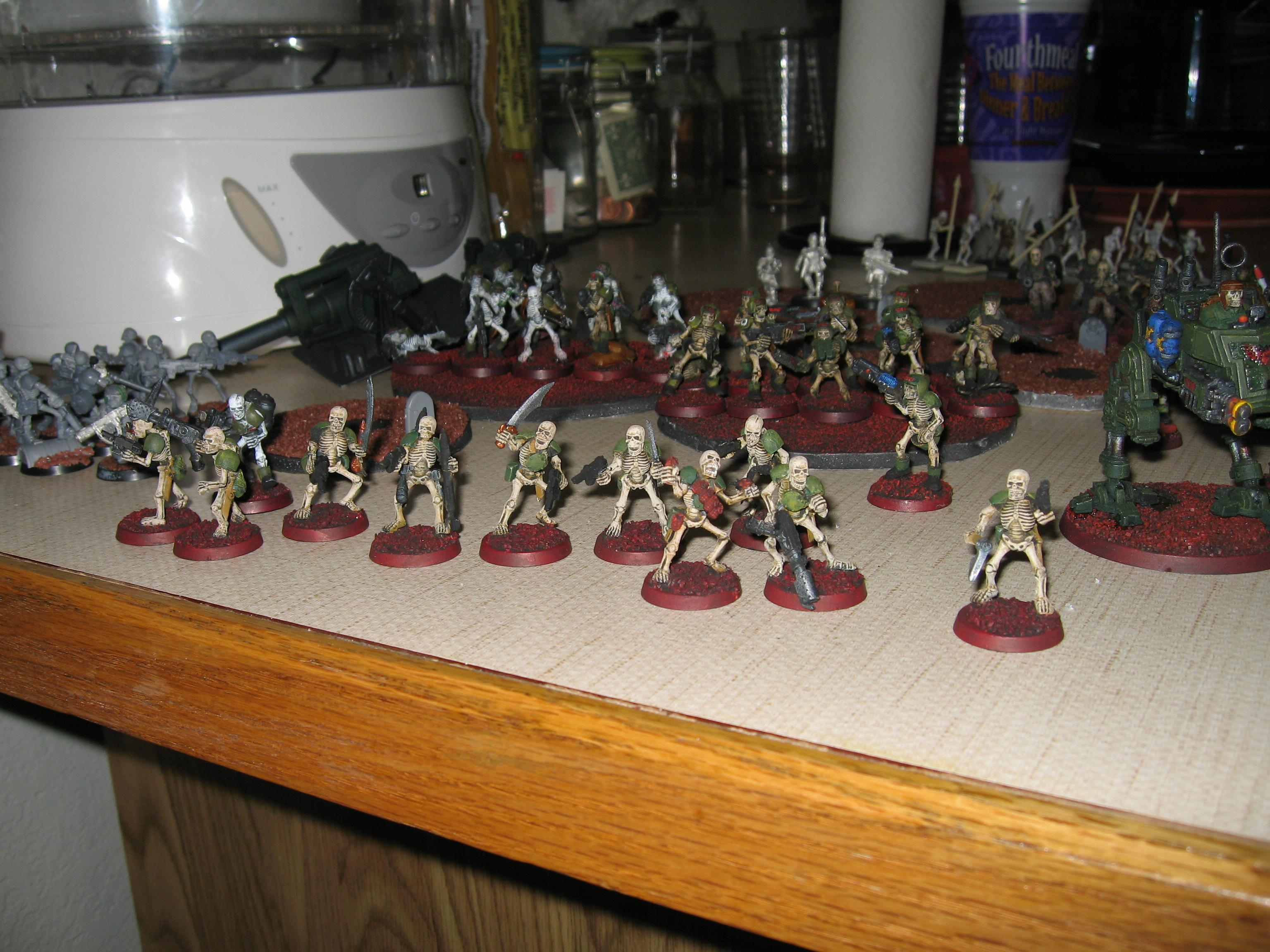 Imperial Guard, Skeletons, Undead, Warhammer 40,000