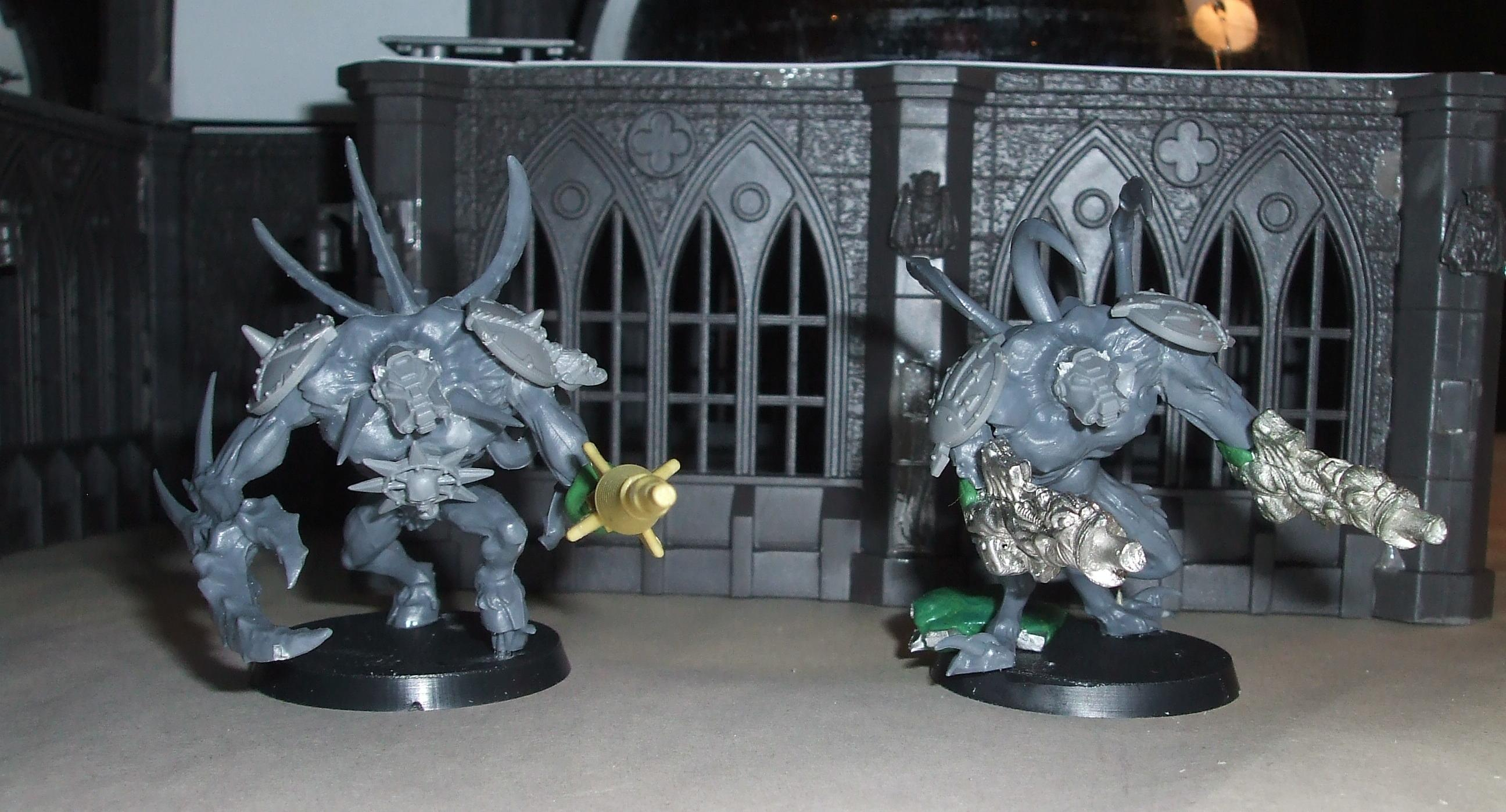 Chaos Space Marines, Obliterators, Spawn, Work In Progress