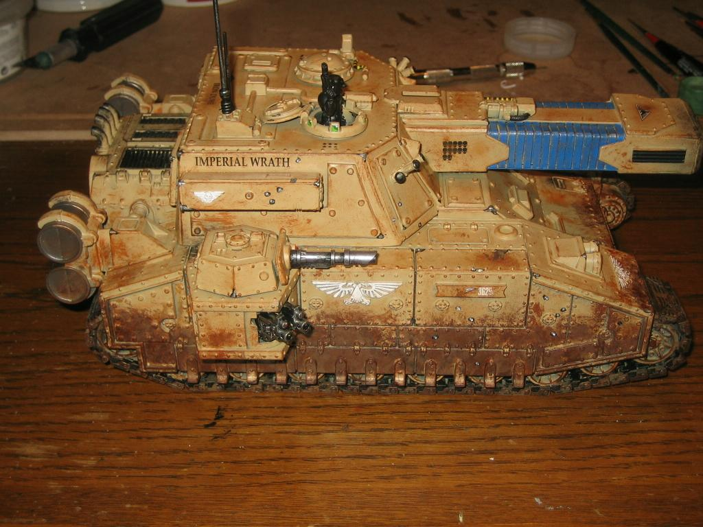 Apocalypse, Conversion, Imperial Guard, Stormblade, Tank, Vehicle, Warhammer 40,000, Wash, Weathered, Work In Progress