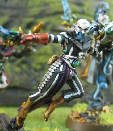 Eldar, Harlequins, Power Weapon, Stripes, Warhammer 40,000
