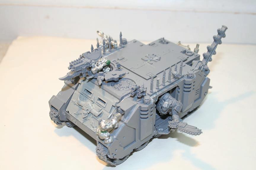 Conversion, Looted, Orks, Rhino, Warhammer 40,000, Work In Progress