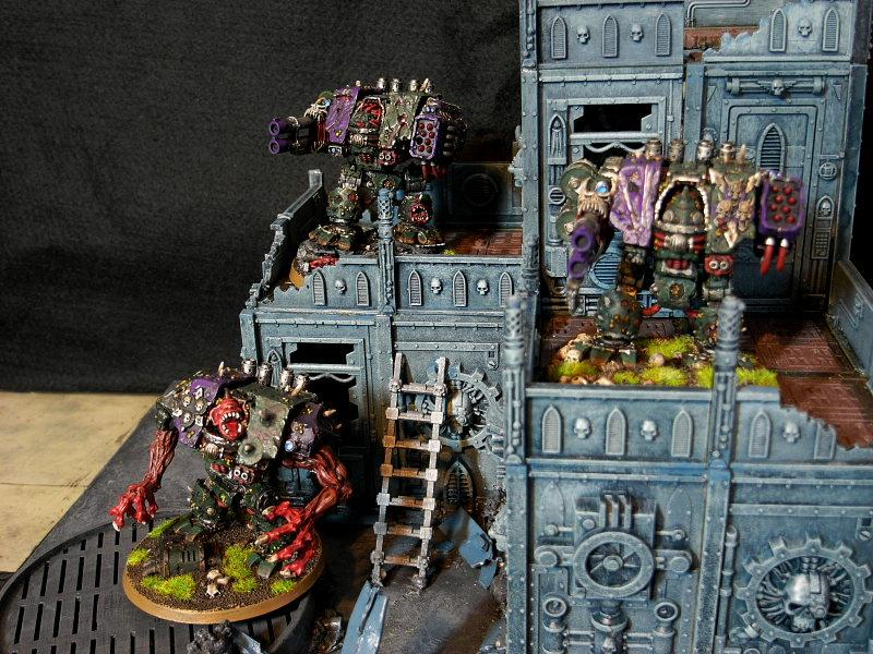 Chaos Space Marines, Dreadnought, Dreadtasm!, Forge World, Greenstuff, Magnet, Nurgle, Warhammer 40,000, Work In Progress