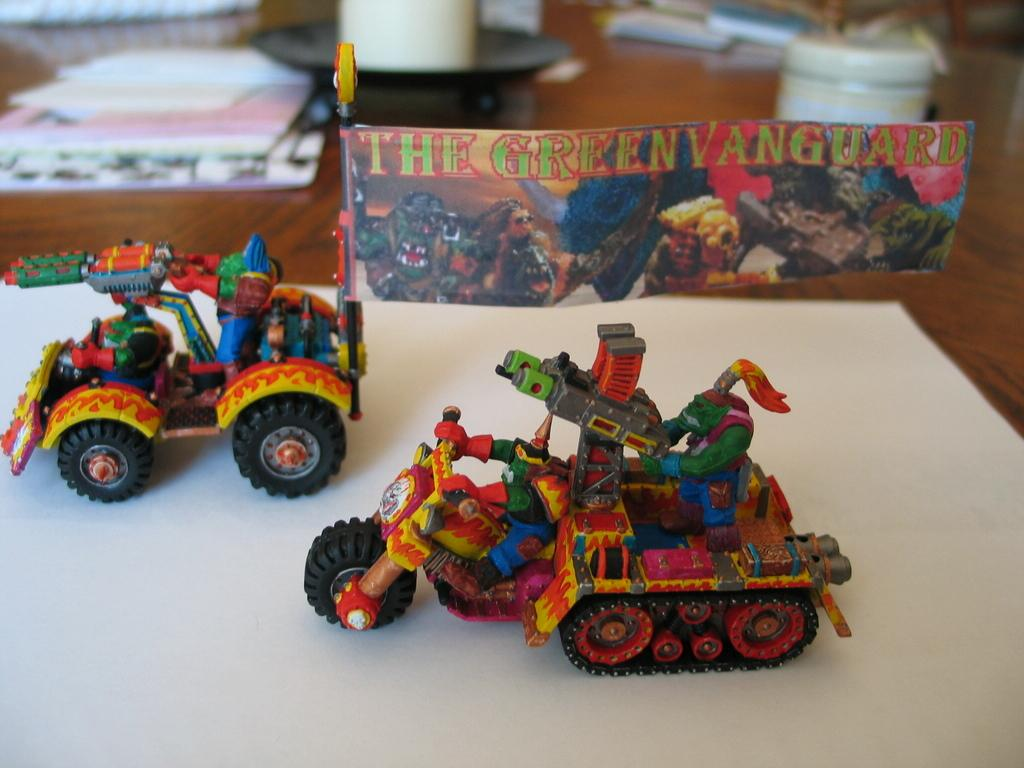Solorg's Orks Warbuggy Wartrakk 40K Green Vanguard