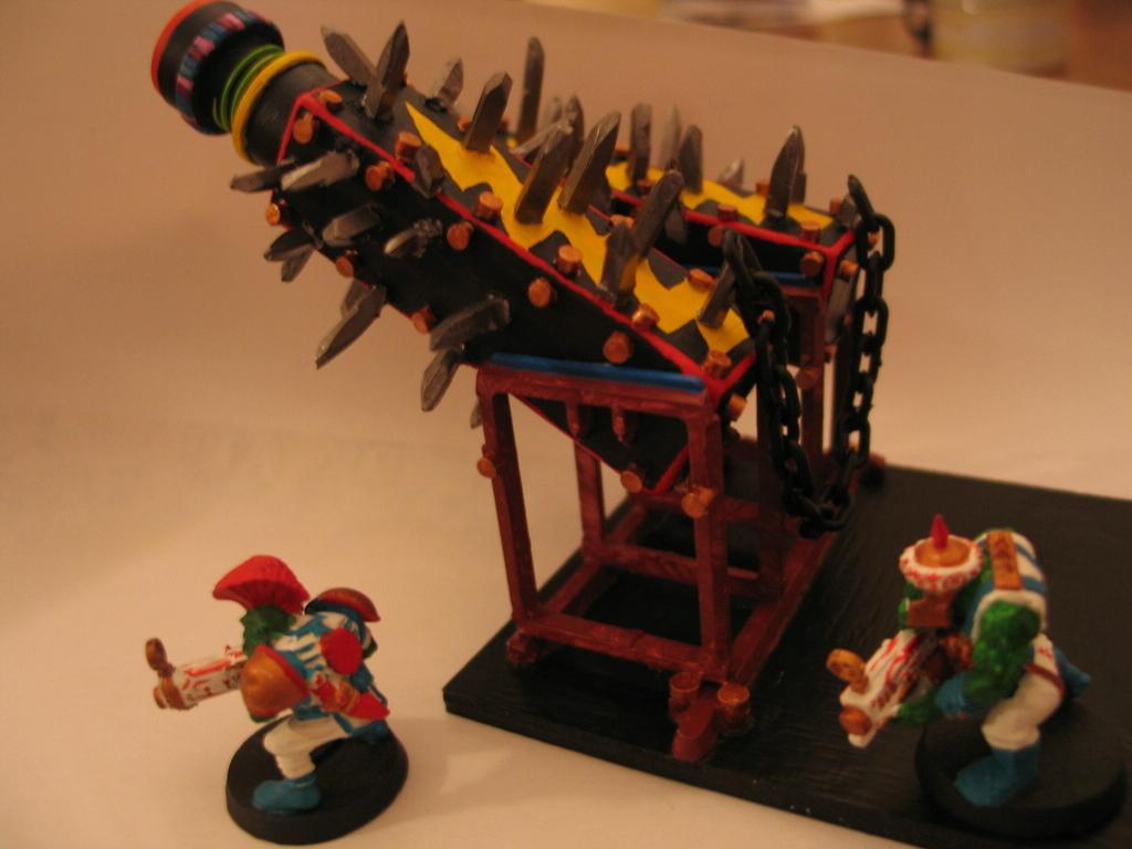 Artillery, Flakka Dakka Gun, Orks, Scratch Build