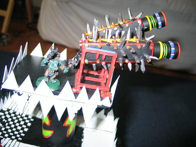 Solorg's Orks Triceratops counts as Squiggoth with Howdah 40K