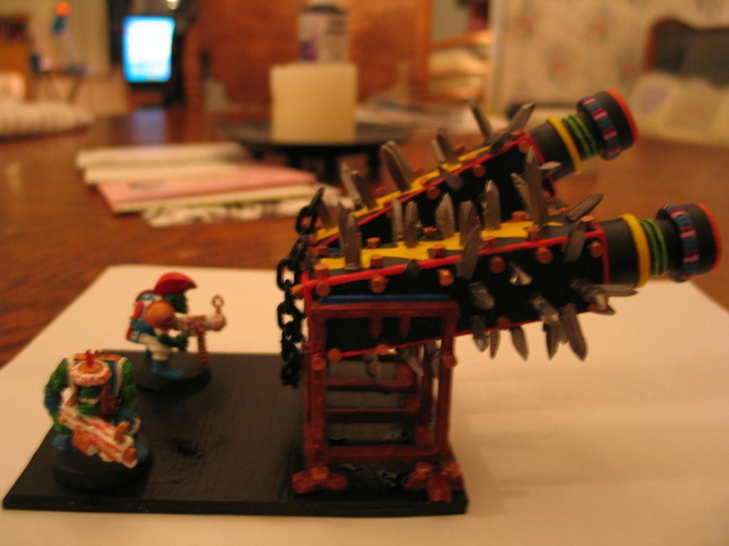 Solorg's Orks Scratchbuilt FlakkaDakka Gun 40K
