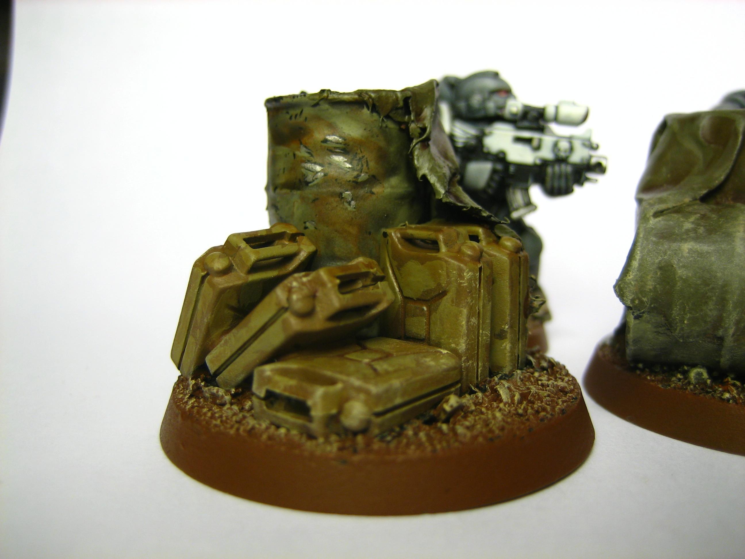 Ammo, Barrels, Objective Marker, Warhammer 40,000