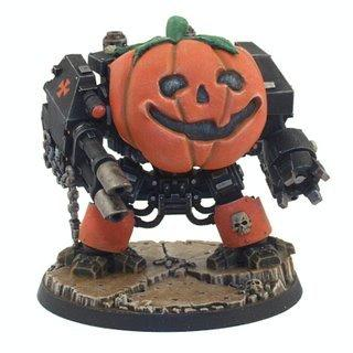 Dreadnought, Halloween, Humor, Pumpkin, Space Marines
