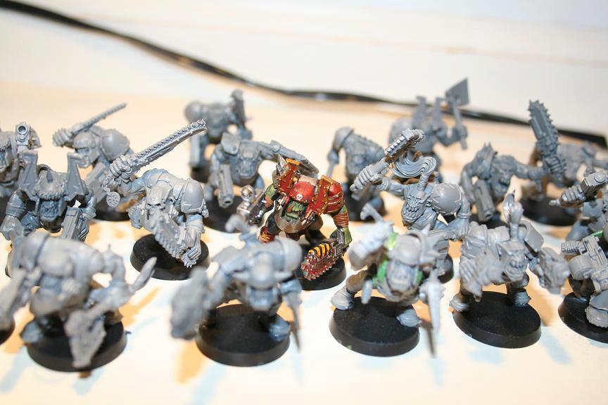 Mob, Orks, Slugga Boyz, Warhammer 40,000, Work In Progress