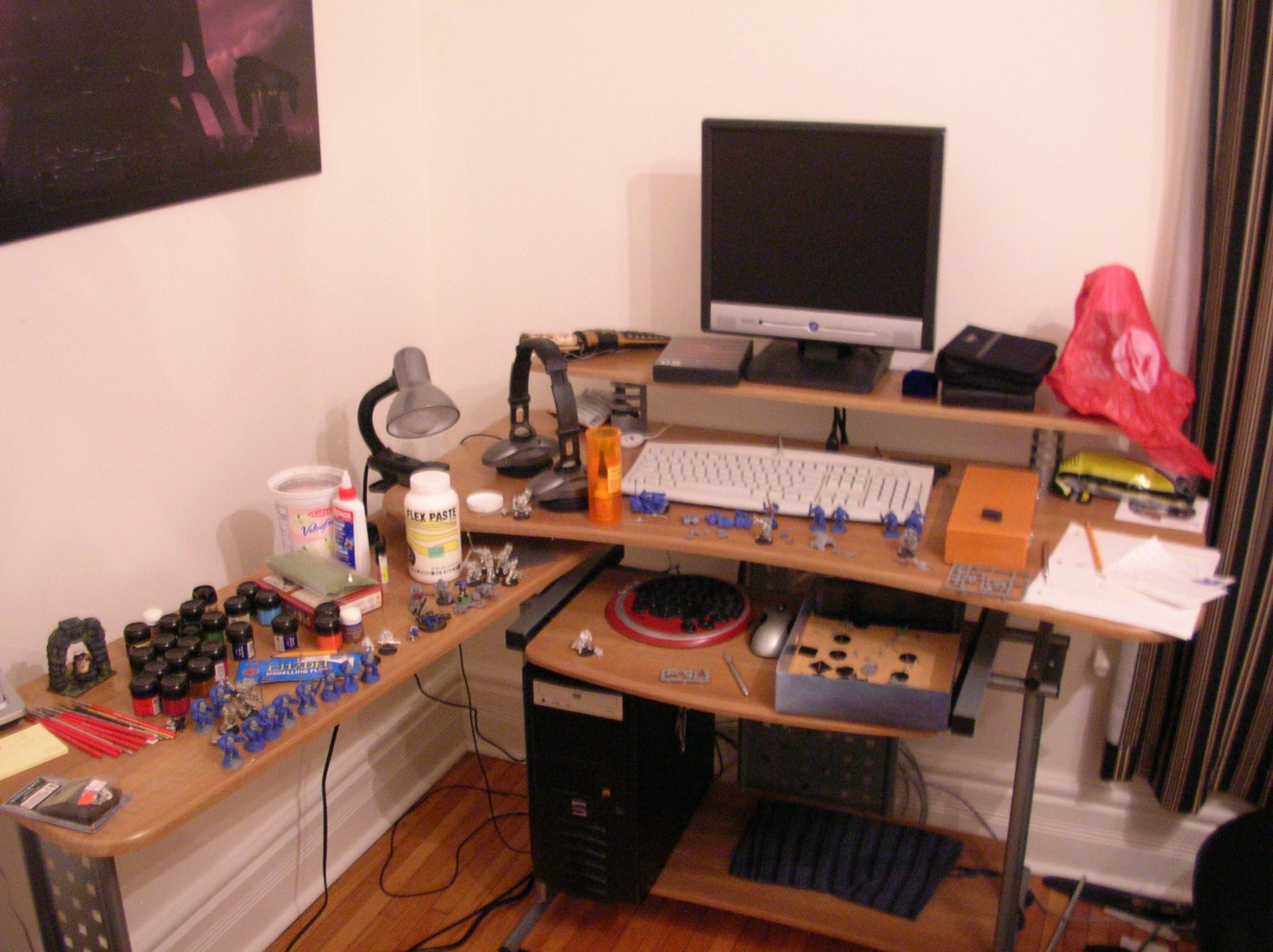 Hobby Area, My dakka dakka and minatures work space