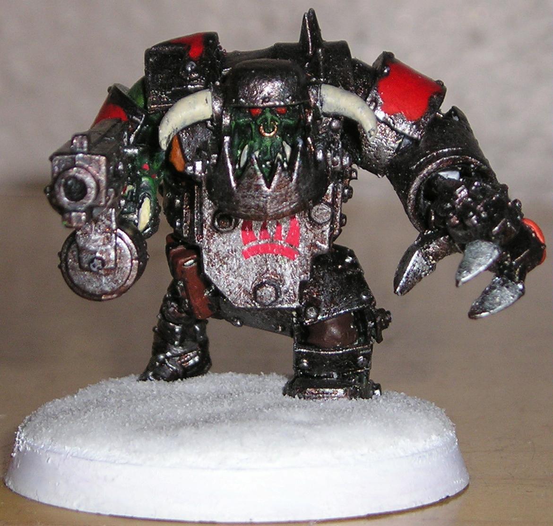 Nob, Orks, Powerklaw, Snow, Warhammer 40,000