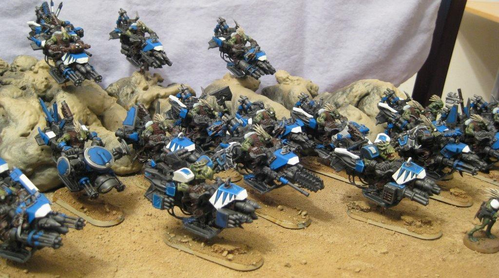 Bike, Blue, Conversion, Kroot, Orks, Warhammer 40,000