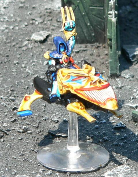Eldar, Harlequins, Jetbike, Urban Base, Warhammer 40,000