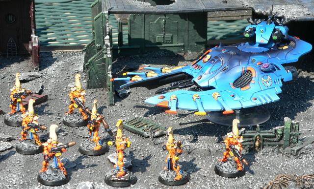 Eldar, Fire Dragon, Urban Base, Warhammer 40,000, Wave Serpent