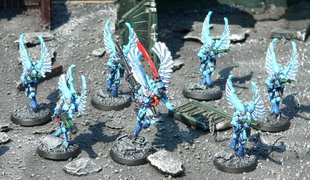 Baharroth, Eldar, Swooping Hawks, Urban Base, Warhammer 40,000