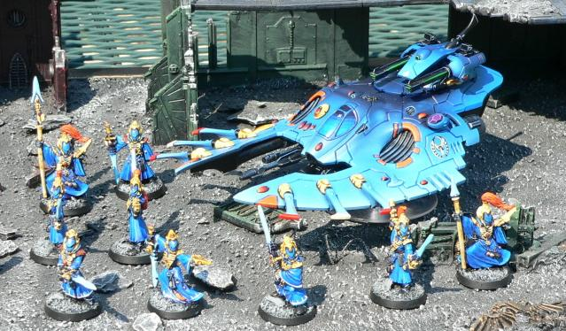 Eldar, Urban Base, Warhammer 40,000, Warlock, Wave Serpent