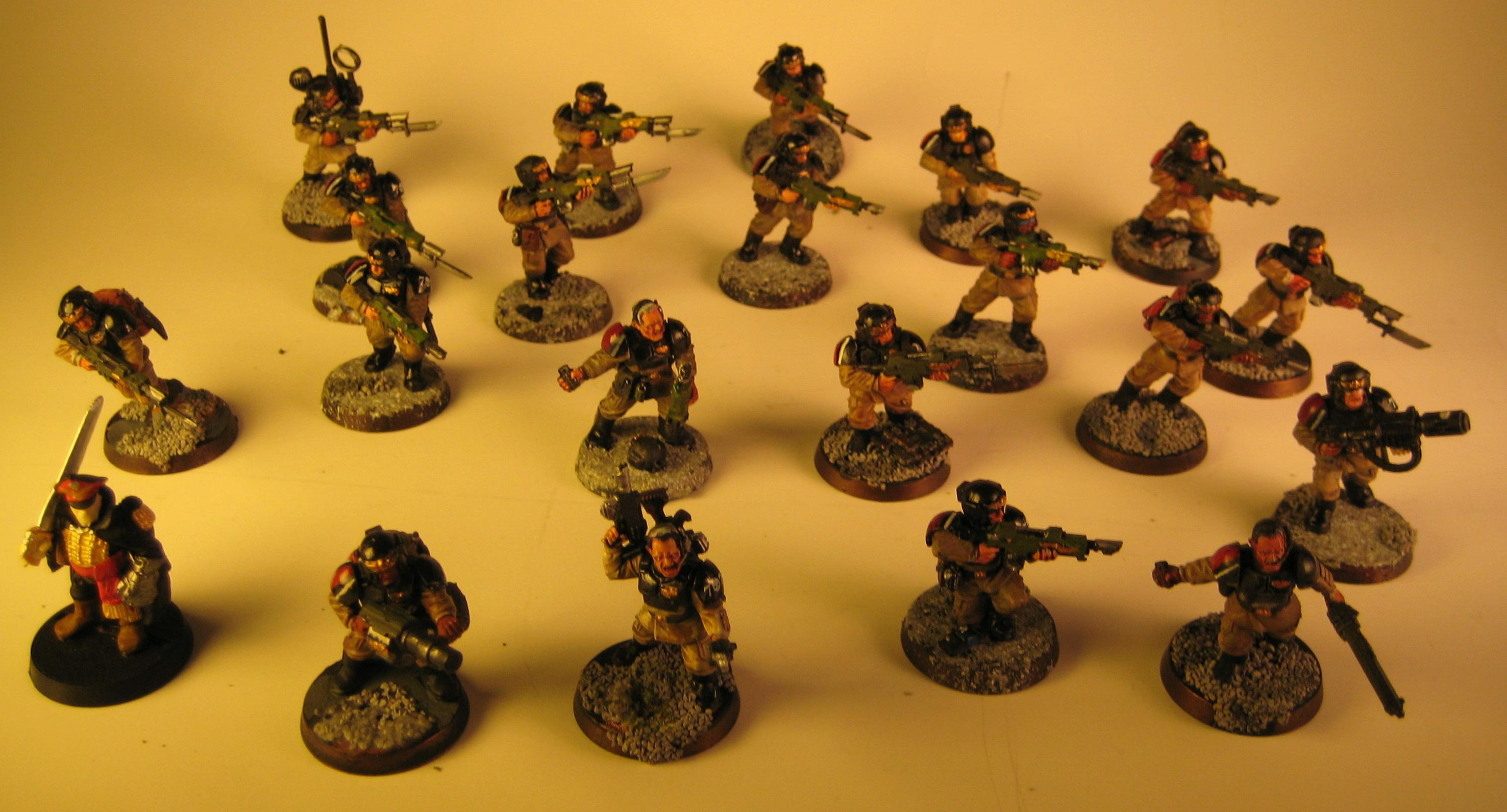 Cadians, Commissar, Imperial Guard, Infantry, Miniature, Shock Troops