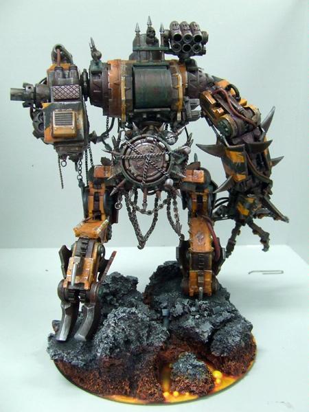 Chaos Space Marines, Conversion, Defiler, Iron Warriors, Walker, Warhammer 40,000