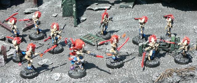 Eldar, Howling Banshees, Jain Zar, Urban Base, Warhammer 40,000
