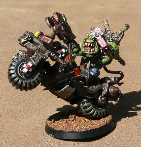 Bike, Orks, Warboss, Warhammer 40,000
