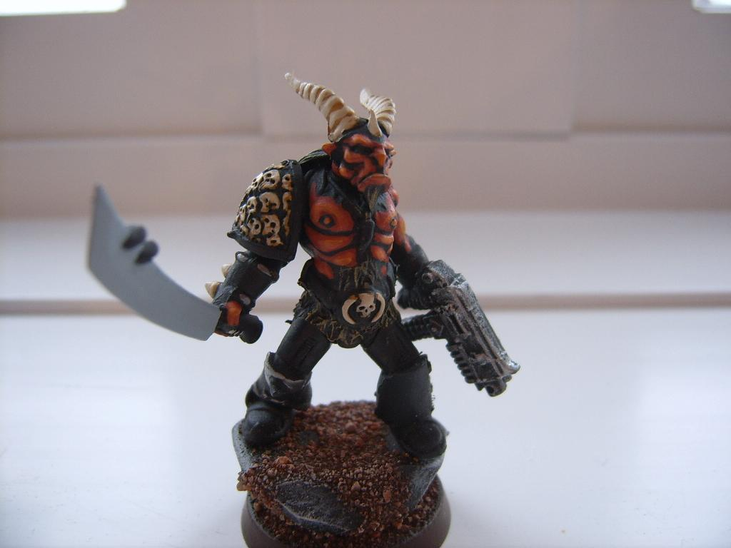Beastmen, Chaos, Chaos Space Marines, Conversion, Khorne, Warhammer 40,000