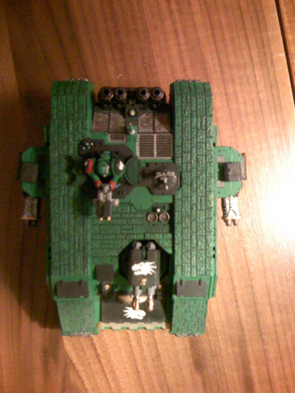 Land Raider, Poor Landraider, Salamanders, Space Marines, Warhammer 40,000