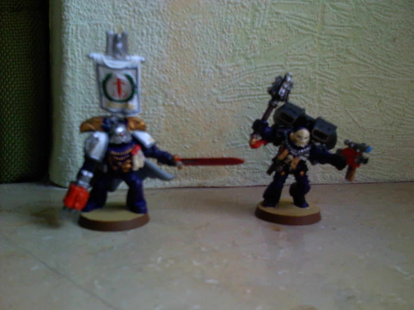 Captain, Chaplain, Crimson Swords, Space Marines, Warhammer 40,000
