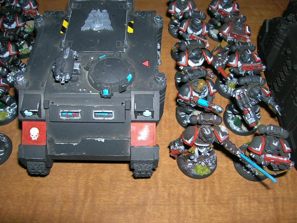 Rhino, Space Marines, Warhammer 40,000, Weathered