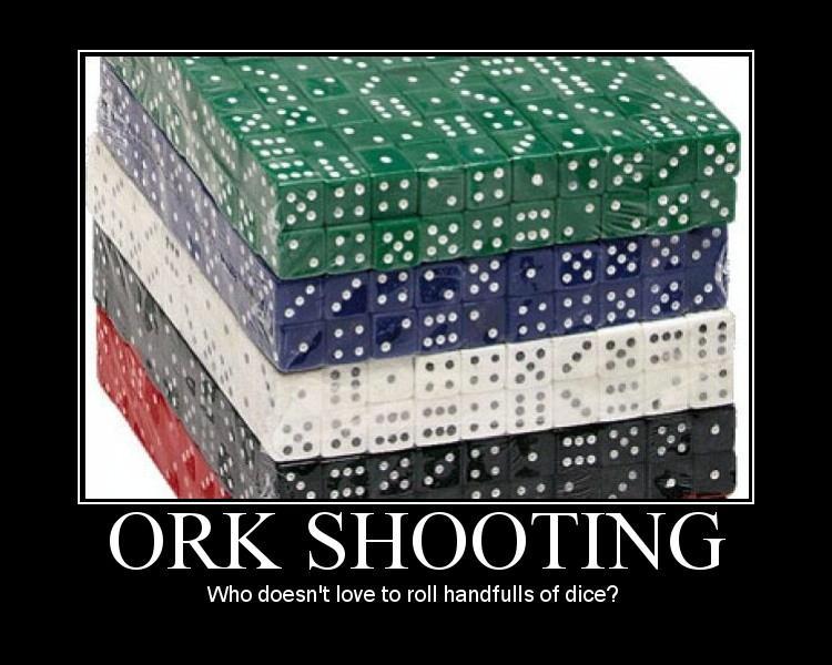 Humor, Motivational Poster, Ork Shooting, Orks, Poster
