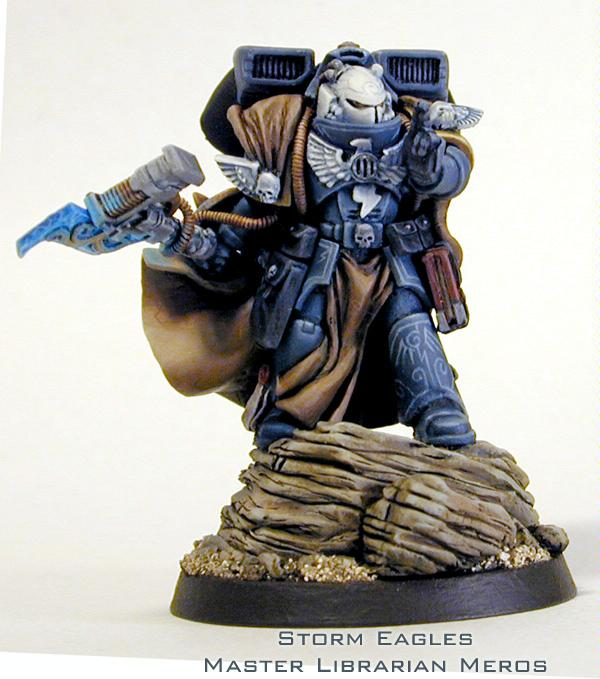 Cloak, Conversion, Freehand, Librarian, Space Marines