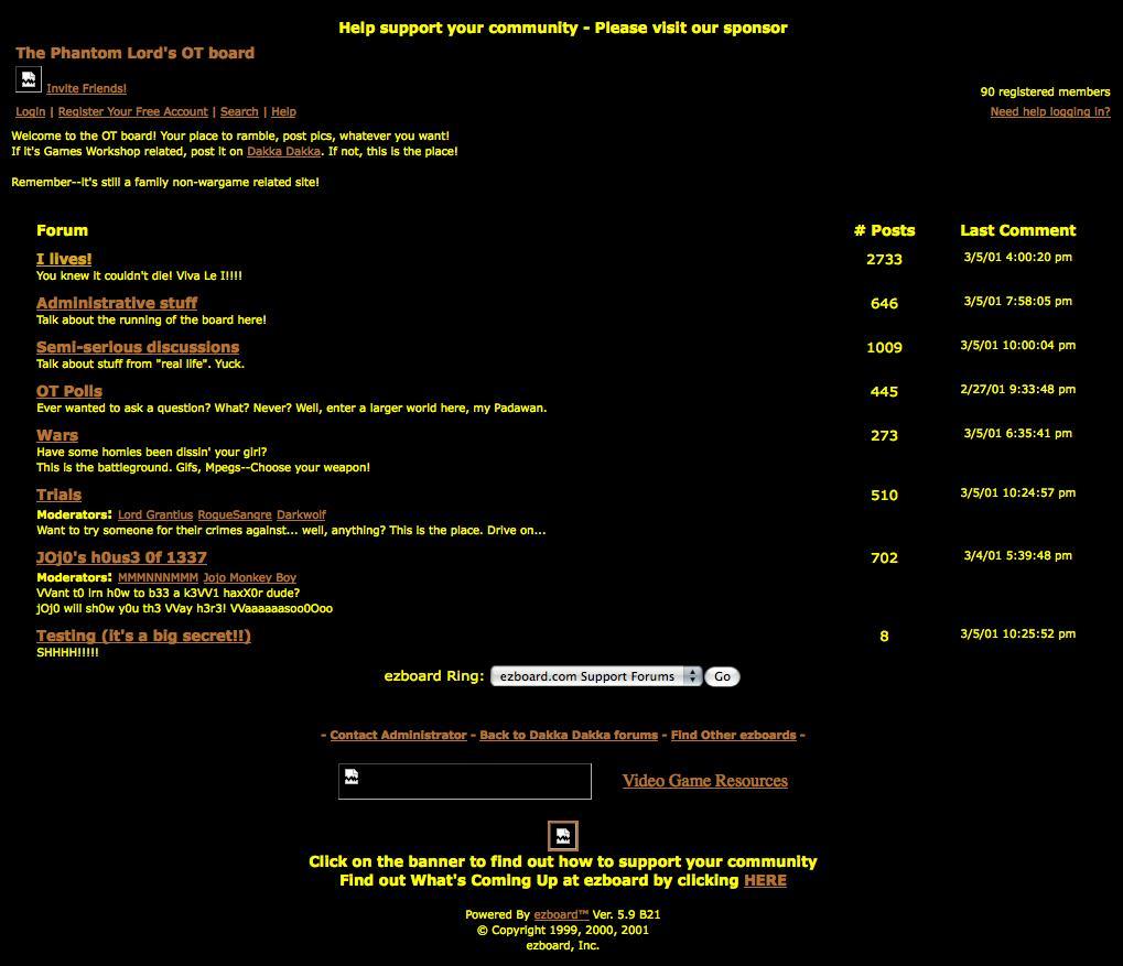Dakka Dakka, Forum, History Of Dakka, Screen Capture