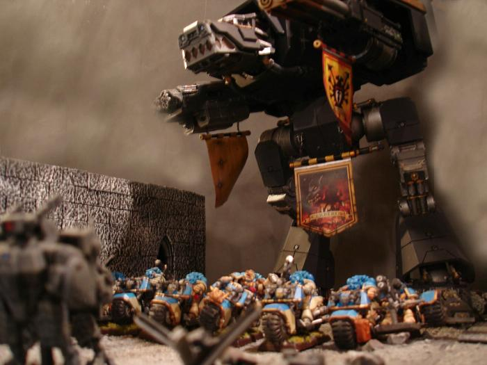 Action, Apocalypse, Celestial Lions, Cities Of Death, Game Table, Objective Marker, Terrain, Titan, Warhound