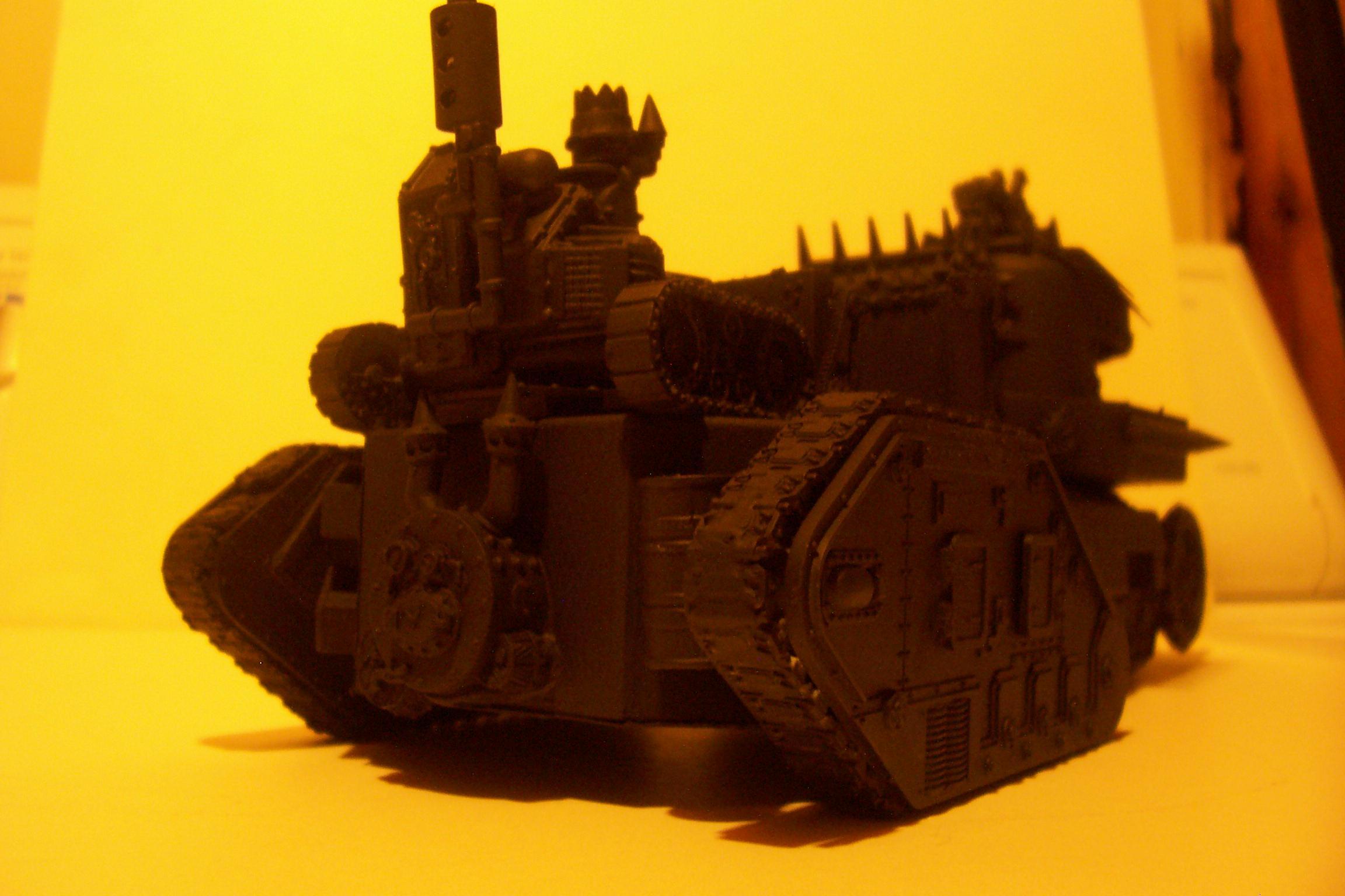 Battlewagon, Conversion, Leman Russ, Looted, Orks, Primered, Tank, Vehicle, Warhammer 40,000