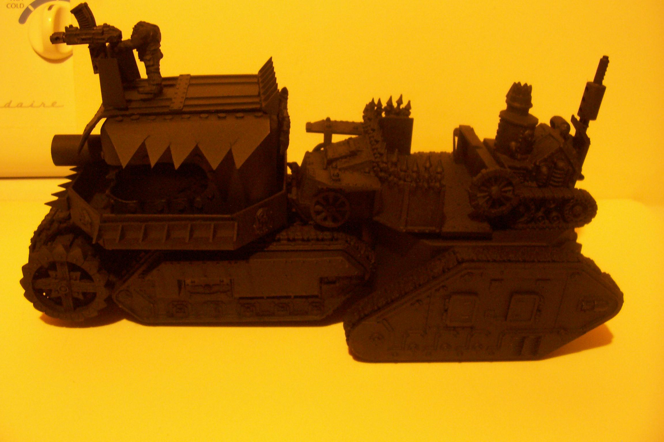 Conversion, Leman Russ, Looted, Orks, Primered, Tank, Vehicle, Warhammer 40,000