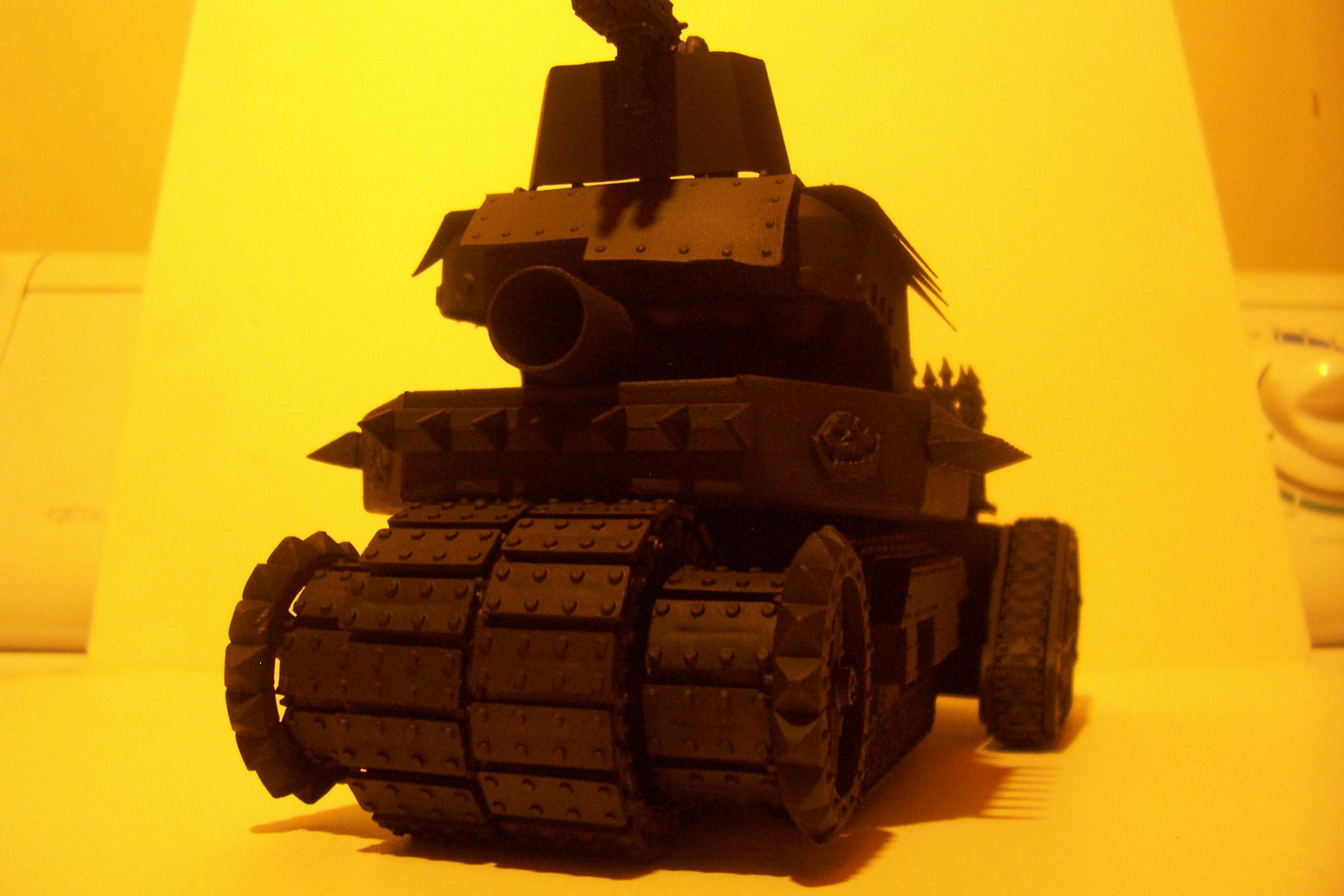 Battlewagon, Conversion, Leman Russ, Looted, Orks, Primered, Tank, Vehicle