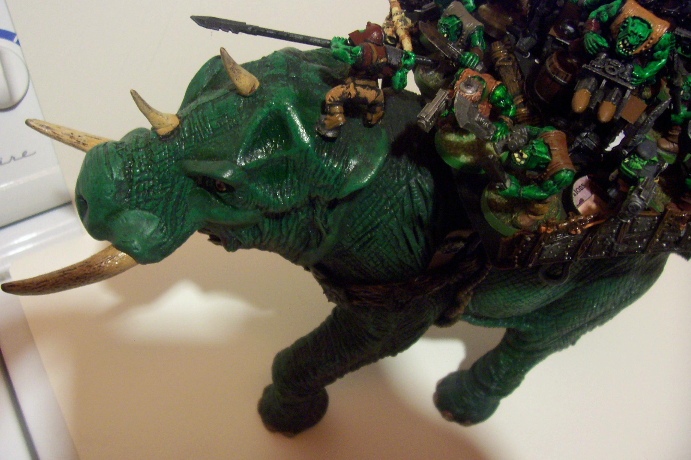 Conversion, Feral, Orks, Squiggoth, Toy, Warhammer 40,000