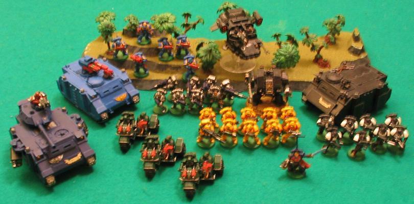 Blurred Photo, Crusade Army, Space Marines, Sub-optimal
