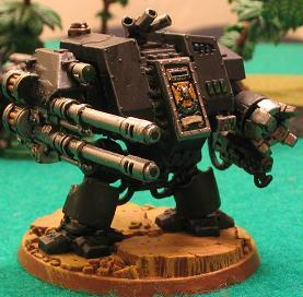 Dreadnought, Iron Fists, Space Marines, Twin-linked Autocannon