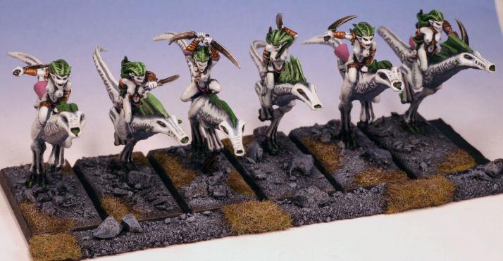 Chaos, Daemons Of Chaos, Mounted Daemonettes, Seekers Of Slaneesh, Warhammer Fantasy