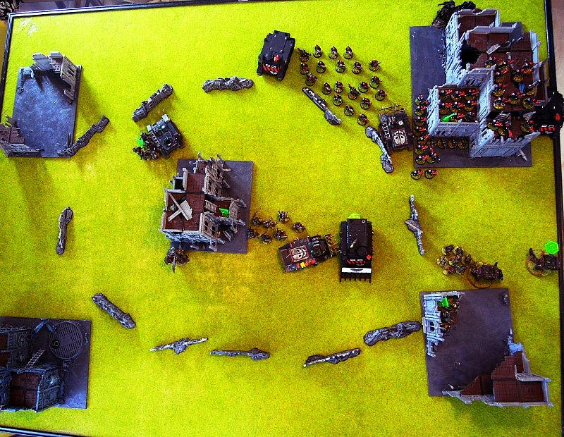 Battle Report, end of turn 2