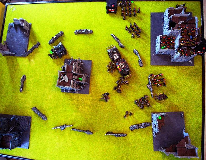 Battle Report, end of turn 3