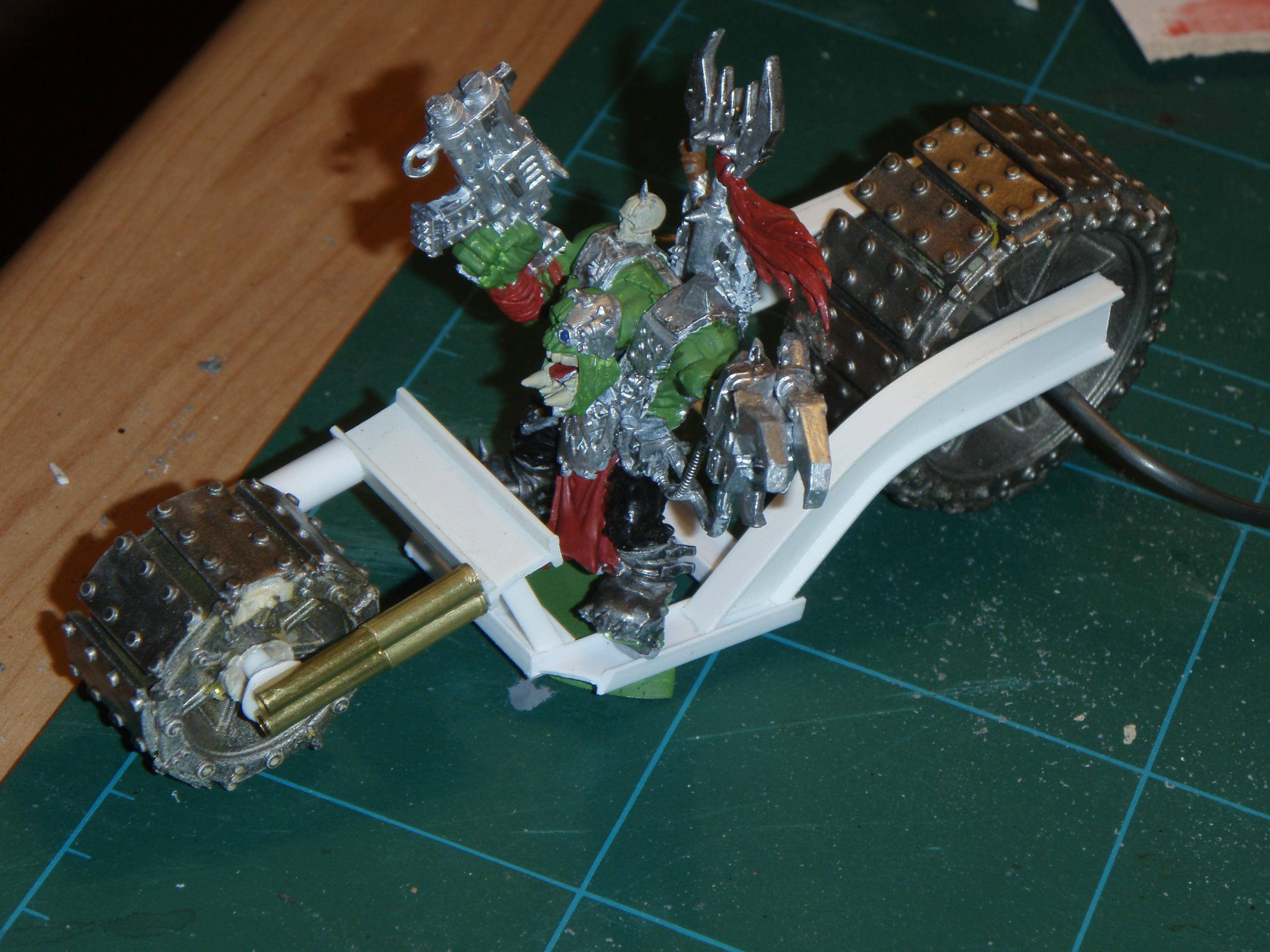 Bike, Conversion, Orks, Warboss, Warhammer 40,000