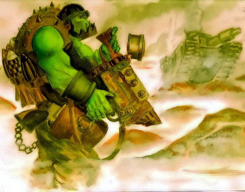Artwork, Orks, Tankbustas, Warhammer 40,000