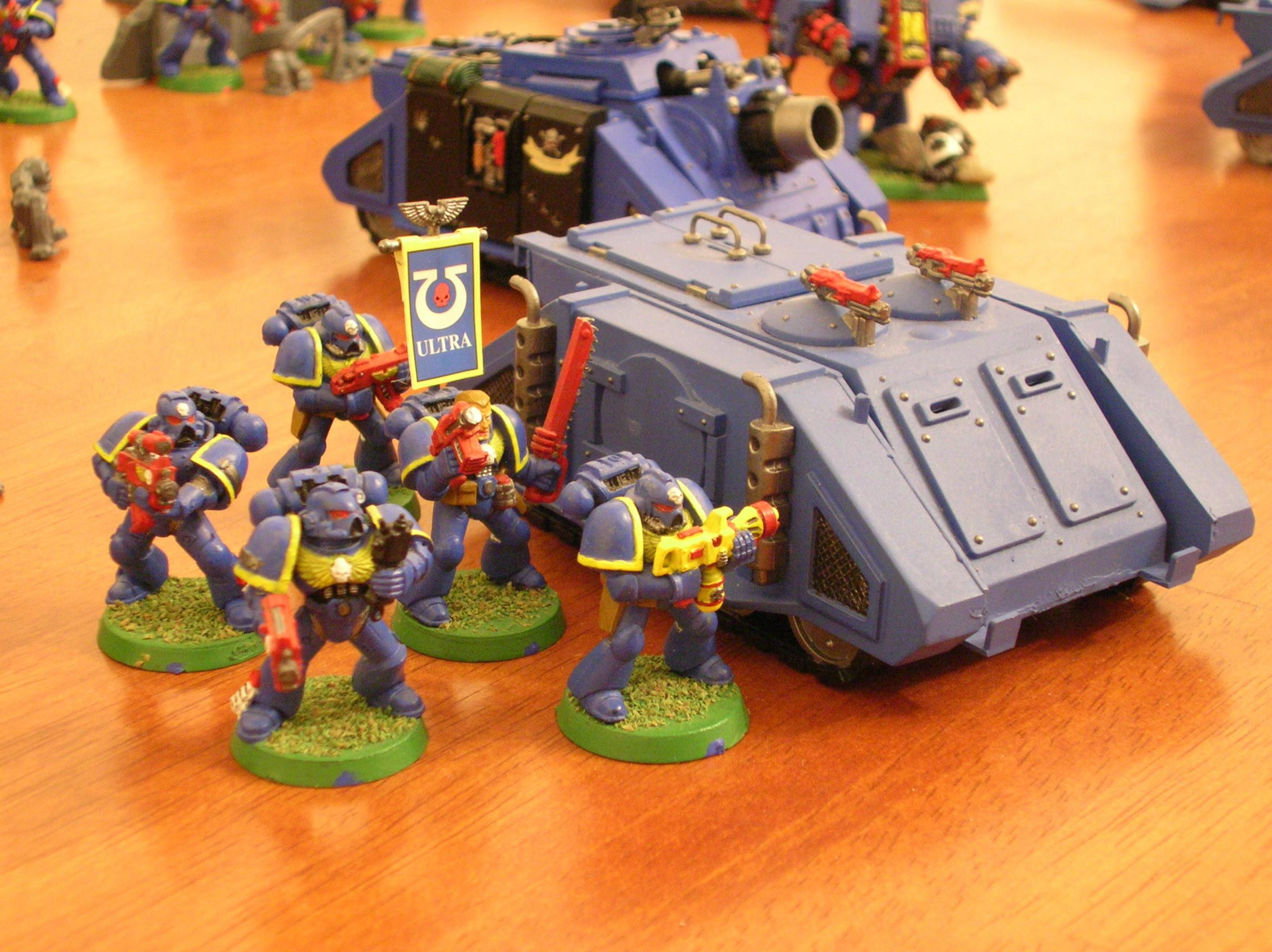 Tactical 1, Combat Squad 2 - Flamer Squad with Rhino