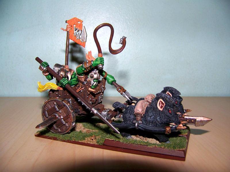 Boarboyz, Chariot, Goblins, Orcs, Warhammer Fantasy