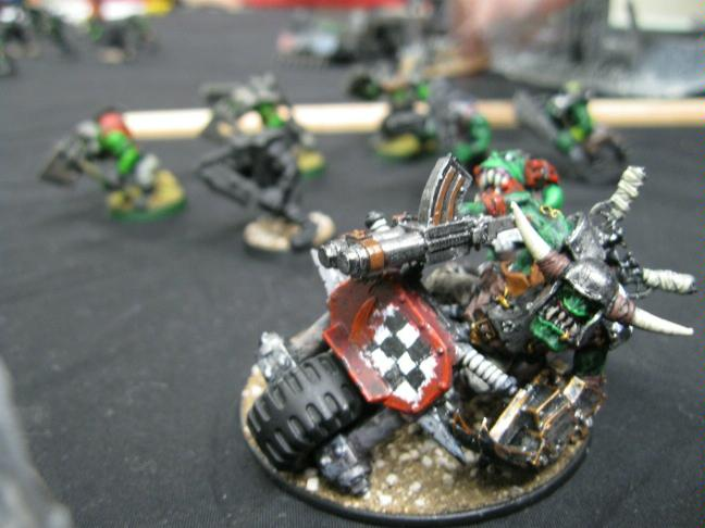 Battle Report, Bike, Conversion, Imperial Guard, Orks, Power Klaw, Warboss, Warhammer 40,000