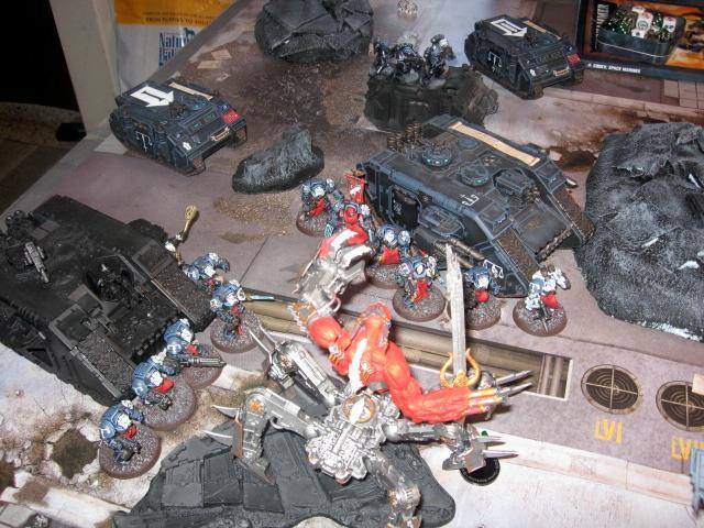 Battle Report, Daemons, Land Raider, Soul Grinder, Terminator Armor, Warhammer 40,000