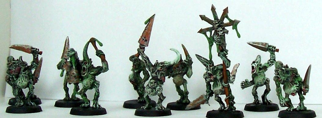Chaos, Chaos Daemons, Plaguebearers, Warhammer 40,000
