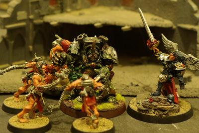 Battle, Chaos Space Marines, Close Combat, Typhus, Warhammer 40,000, Witch Hunters