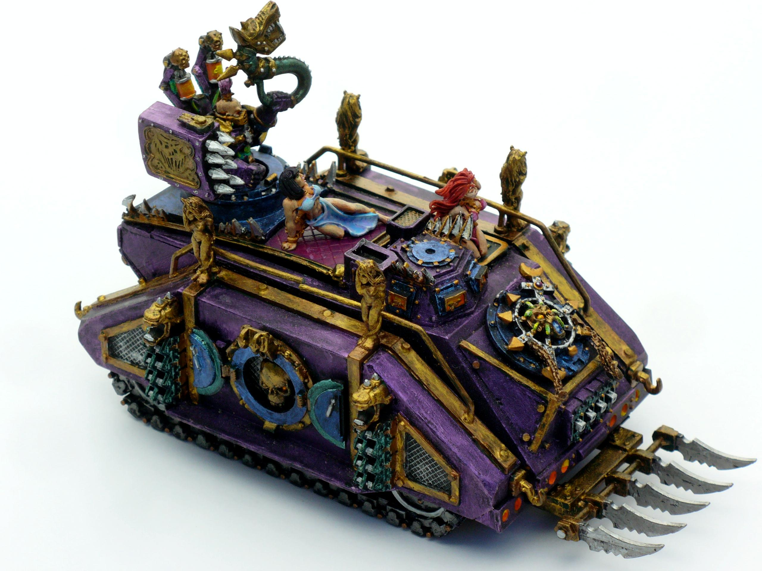 Chaos, Emperor's Children, Noise Marines, Over The Top, Rhino, Slaanesh, Space Marines